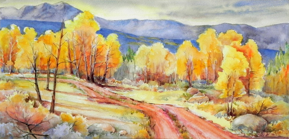 2008 Joan Engler On Red Table Mountain Watercolor